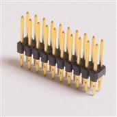2.54间距 单层双排 压接式 免焊式 排针