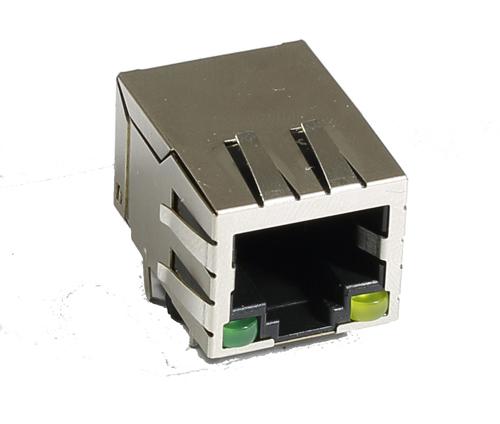 电脑周边接口 带LED 灯的RG45连接器