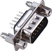 东莞 D-SUB 公头 180度 双排 铆合锁螺丝连接器 生产商