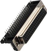 东莞 HR/D 15/26/44/62/78P 母座 90度插板型8.89脚位 连接器 供应商