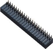 2.0  排母 90度弯针 PA9T料黑色 B型 H=7.2 连接器 供应商