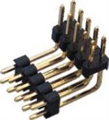 2.54mm 双排双塑 90度弯针 排针 连接器 供应商