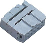 2.54MM 灰白色  2*5P 带凸点 IDC排线头 连接器