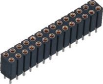 耐高温 2.54MM 双排 端子长:10.0MM 圆孔排母