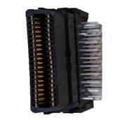 40P SCSI CEN-TYPE D结构  母头 全塑胶 90度 无固定片 打K